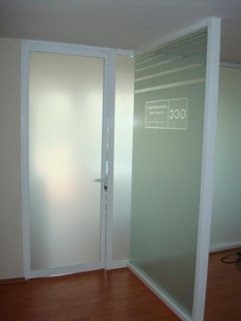 Trabajos realizados vidrios y aluminio yireth - Puerta de aluminio con cristal ...